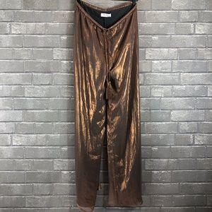 Bailey 44 Anthropologie Metallic WideLeg Pants NWT